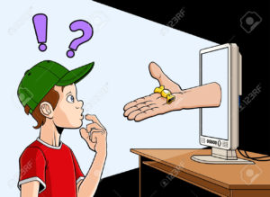 27515094-Conceptual-illustration-about-dangers-of-internet-for-the-children-An-hand-is-coming-out-of-a-screen-Stock-Vector